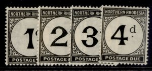 NORTHERN RHODESIA GV SG D1-D4, complete set, M MINT. Cat £26.