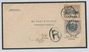 North Borneo LABUAN Overprint Pictorials 42c Registered Combination 1897 W110