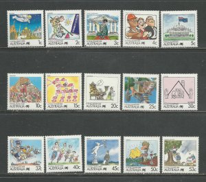 Australia  Scott catalog # 1053-1078 Mint NH Short Set See Desc