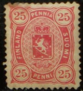 1881-1883 Scott #29 Finland 25p rose