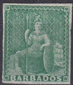 Barbados #5   F-VF Unused CV $210.00 (A19413)