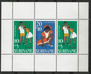 Suriname # B139a  Children & Games - souvenir sheet   (1) Mint NH