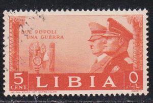 Libya # 95, Hitler & Mussolini, Used