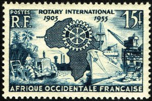 French West Africa #64  MNH - Rotary International (1955)