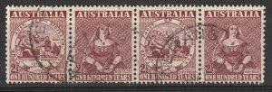 #229a Australia Used strip of 4