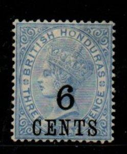 British Honduras Sc 36 1891 6c on 3d Victoria stamp mint