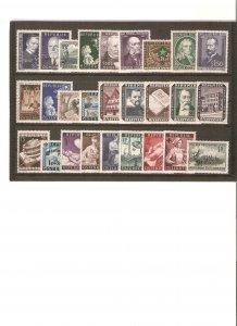 Austria cpl. year date 1953-4, mint NH