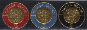 Davar Island, Olympic Games, Gold Foil Stamps, NH Set