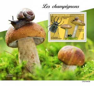 C A R - 2021 - Mushrooms - Perf Souv Sheet - Mint Never Hinged