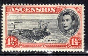 Ascension Island 1938 - 53 KGV1 1 1/2d The pier MM SG 40b ( R637 )