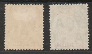 GIBRALTAR 1904 KEVII 1/- BOTH PAPERS WMK MULTI CROWN CA