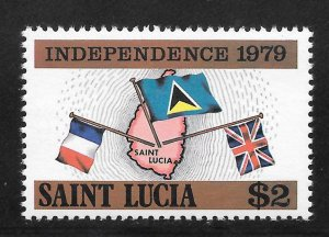 St Lucia Mint Never Hinged [4169]