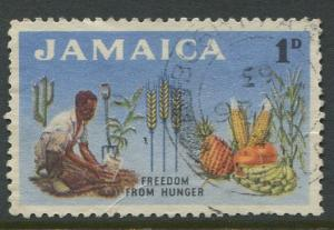 Jamaica -Scott 201 - Freedom from Hunger -1963 - Used - Single 1p- Stamp