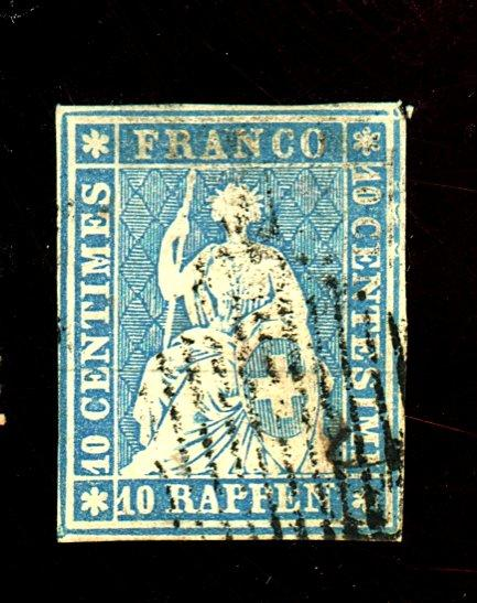 Switzerland #21 Used F-VF Cat$125