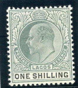 Lagos 1904 KEVII 1s green & black (O) MLH. SG 60. Sc 56.