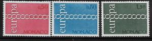 MONACO, 797-799, MNH, EUROPA 1971