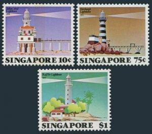 SINGAPORE SC#397-399 1982 Lighthouse MNH