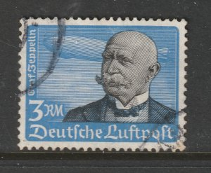 Germany a used 3Rm from the 1934 Air stamps set
