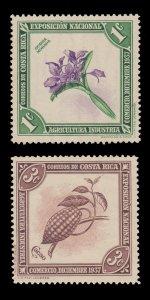 COSTA RICA 1937 - 38  SCOTT # 184 - 185. UNUSED