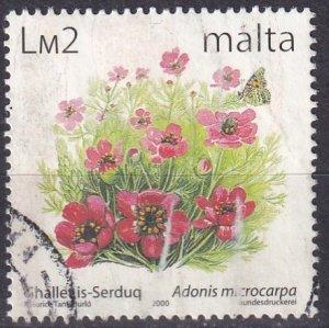 Malta #1027  F-VF  Used CV $9.00  (Z1659)