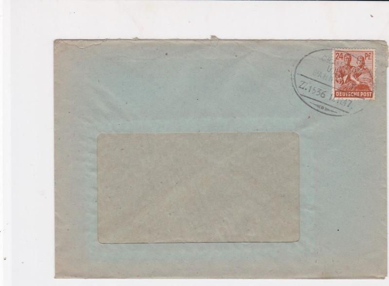 german 1947 bahnpost railway stamps cover  ref 18781