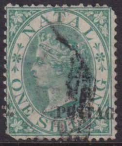 Natal 1869 SC 25 Used RARE