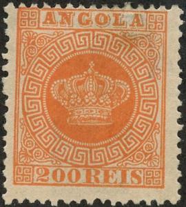 Angola, Scott #8, Unused, Hinged