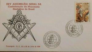 A) 1996, BRAZIL, FREEMASONRY, XXV GENERAL ASSEMBLY OF THE CONFEDERATION OF SYMBO