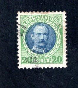 Danish West Indies #46,  VF,  Used,   CV $27.50 ....1630060