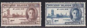 Pitcairn Isl # 9-10, Peace Issue, Used, Half Cat.