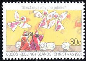 Cocos Islands # 76 mnh ~ 30¢ Christmas - Angels, Shepherds