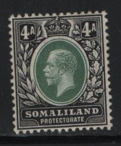 SOMALILAND, 56, HINGED, 1912-19, KING GEORGE V