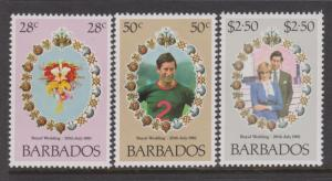 Barbados 1981 Royal Wedding Sc#547-549 MNH