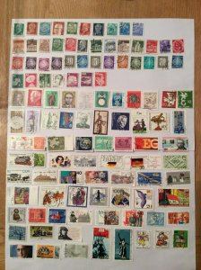 German 100+ stamps - Lot S