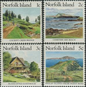 Norfolk Island 1987 SG405-408 Scenes MNH