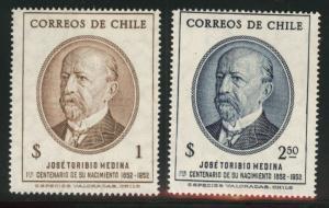Chile Scott 273-274 mint never hinged MNH** 1953