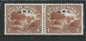 SOUTH WEST AFRICA 1927-30 4d BROWN PERF 14x13½ MM SG 62b CAT £50