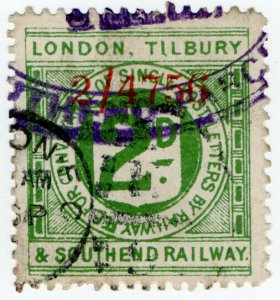 (I.B) London, Tilbury & Southend Railway : Letter Stamp 2d (Southend)