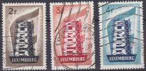 Luxembourg 318-320 used (1956)