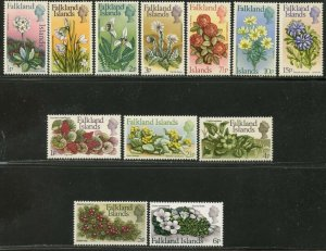 FALKLAND IS. Sc#210-221 1972 Decimal Flowers Part Set to 15p OG Mint Hinged