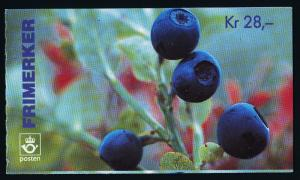 Norway 1087a Booklet Serial # MNH Berries
