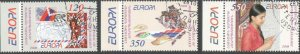 RARE CEPT EUROPA 2008 LETTER NAGORNO KARABAKH ARTSAKH ARMENIA SET CTO R18354