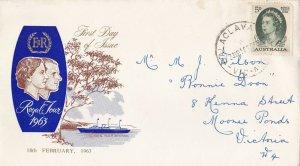 AFD1615) Australia 1963 FDC-5d QUEEN ELIZABETH II -ROYAL VISIT -WCS