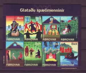 Faroe Islands Sc 510 2009 Lost Musicians stamp sheet used