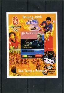 Sao Tome & Principe 2004 Table Tennis F.Hakansson Deluxe s/s mnh.vf