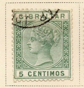 Gibraltar 1889 Early Issue Fine Used 5c. 326907
