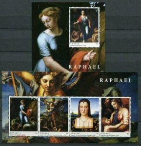Tuvalu 2012 art paintings Raphael  klb+s/s MNH