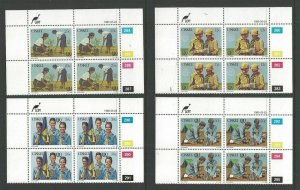 1985 Scouts Ciskei IYY Girl Guides 75th anniversary plate blocks