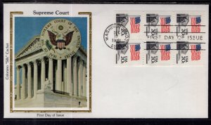 US 1896a Flag Over Supreme Court Booklet Pane Colorano U/A FDC