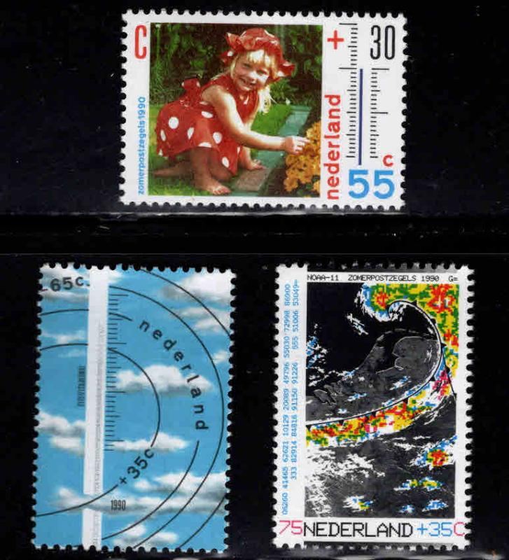 Netherlands Scott B650-B652  MNH** 1990 set